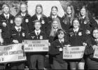 STRONG PERFORMANCE Klondike FFA members display the array of banners they earned by placing high in the FFA Area II Leadership Development Events competition held this past Saturday at Howard College in Big Spring. As a result of the com- Klondike FFA pho
